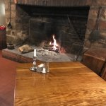 Warm and Cozy Fireplace in Jean Bonnet Dining Room