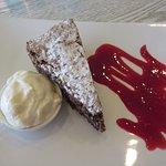Chocolate date & almond cake