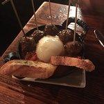 Crab, short ribs, paella, albondiga