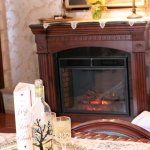 Electric fireplace in Westby Room
