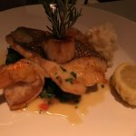 Sea Bass, shrimp and scallop special