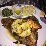 In'laakesh porterhouse with lobster tail