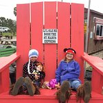 My granddaughter Rylynn & her friend Emily modelling their cute new hats that the bought by the