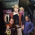 John Wayne doesn't seem too impressed with our rugrats. lol!