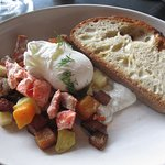 Smoked salmon hash this is a half order