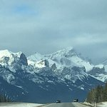Driving west into Canmore. Beautiful!