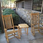 rocking chairs outside