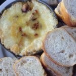 Baked provolone and french bread