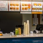 Burgerville Counter and Menu