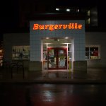 Burgerville Convention Center at Night