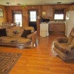 Spacious living quarters in the Illini cabin.