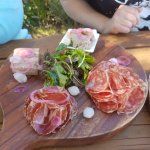 Meat Platter - rillette, pate, 2 charcuterie dressed greens and onions