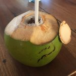 Fresh coconut water.