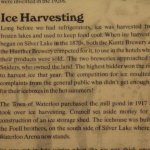 About Ice harvesting