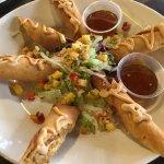 Crispy Chicken Flautas with jalapeño jelly - yummy!