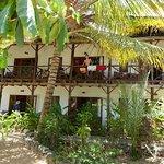 Balcon vue jardin et mer