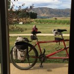 Resting after the long ride - the view from the door of one guest room.