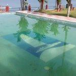 Pool with broken tiles