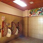 The bathroom at the souvenir store