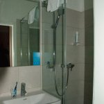 Very small but good bathroom, (Hotel Markus Sittikus)