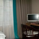 Desk and window, (Hotel Markus Sittikus)