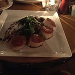 Sea scallops as one dish. Don't get. Not good and second dish was wild mushroom risotto. Wonderf