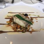 Line caught haddock with cauliflower, mussels, capters, black garlic and pureed cauliflower with