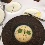 Celeriac Velouté soup with cream that was really all I needed.