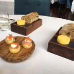 Irish bread & butter......plus a caviar canope that I wish I had 4 instead of 1.