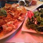 Nachos and a little house salad