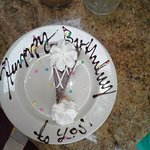 Make sure you tell them it's your special day so they can write a message on your plate. :-)
