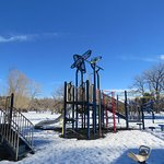 Nice little playground, with picnic tables nearby