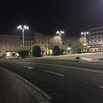 La piazza in versione serale