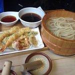 Kama-Ebi Gozen (tempura / krewetka • grzyb shitake,dynia,słodki ziemniak,cukinia,papryka)
