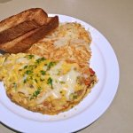 Kitchen Sink Omelet at Cornerstone Cafe, Monticello, MN