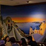 beautiful santorini mural