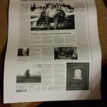 xeroxed copy of front page delivered to our room