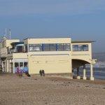Along the beach is a Italian Restaurant ..