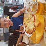 My boy enjoying his pizza 👌👌👌👍👍