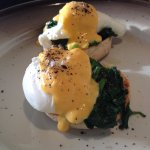 eggs florentine for breakfast perfectly cooked