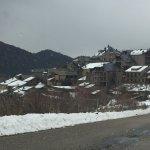 Roní bajando desde la estación de esquí de Port Ainé