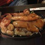 Tofu yaki soba & seafood teriyaki