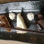 Trio of american desserts