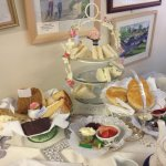 Afternoon Tea for Two - started on the sandwiches, cakes, strawberries and cream scones deliciou
