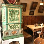 Old tile stove in the romantic Stueberl