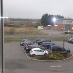 View from rooms facing the industrial estate