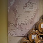 Map showing Whisky Regions in Scotland