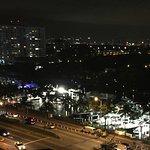 Night skyline view