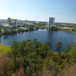 16th floor view of lake and Disneyworld view