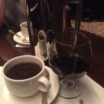 Polo lounge, our favorite place for our French press and black Sambuca